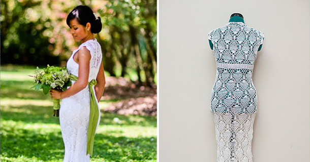This Bride Crocheted Her Own Wedding Dress — On A Bus